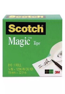 Scotch Magic Tape Clear 34 X 1296 1 Ea Pack Of 3
