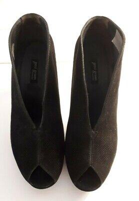 Schwarze Wildleder Heels (Schwarze Paul Green High Heels in Wildleder, Größe 37, sehr gut)