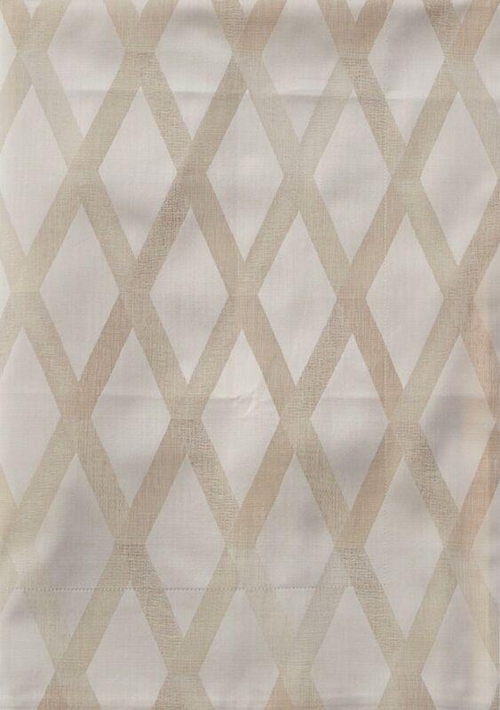Frette Cancellata Arredo Cotton Euro Pillowsham Ivory / Beige New $200
