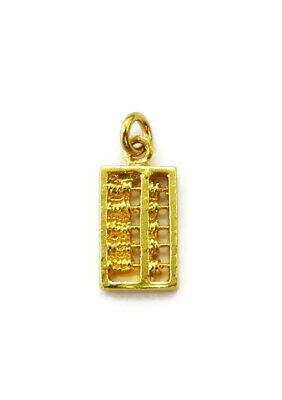 22K Yellow Gold Abacus Charm Necklace Pendant ~ 0.9