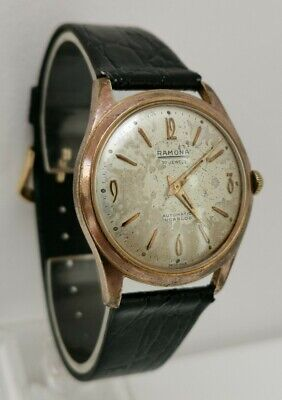 Vintage 1950s Ramona 30 Jewel Automatic Gents Watch Cal Felsa 1560