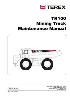 New Terex Tr100 Mining Truck Maintenance Manual 2008