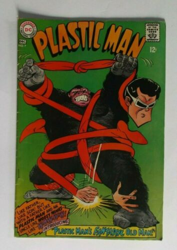 DC Superman National Comics Plastic Man No. 7  December 1967 Comic Book