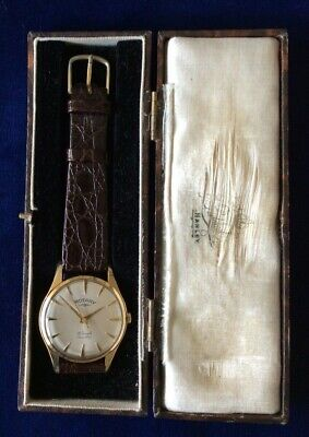 VINTAGE 9 CT GOLD ROTARY MANS WRISTWATCH d 1964