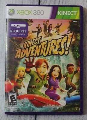 Kinect Adventures Xbox 360 Game E-Everyone Videogame Complete with Manual for sale  Shipping to India