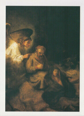 Harmensz Van - Rembrandt Harmensz Van Rijn The Dream of Saint St. Joseph art artwork POSTCARD