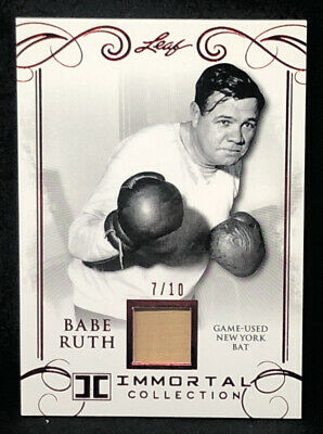 2017 Leaf Babe Ruth #YB-44 Red New York Bat Card 7/10 NM-MT+