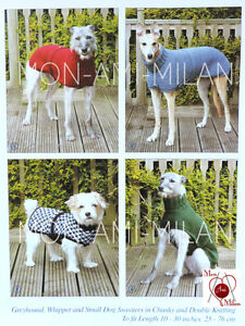 Knitting Pattern DOG COATS SWEATERS Greyhound Whippet Small Dog PET WEAR CLOTHES
