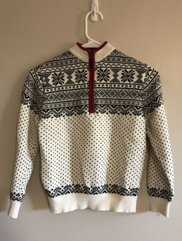 L.L.Bean Boys Size 8 Half Zip Pullover Christmas Sweater