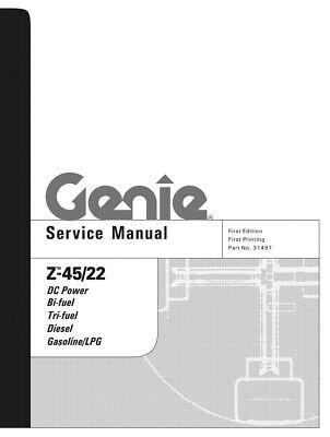 New Terex Genie Z-4522 Boom Lift Service Manual