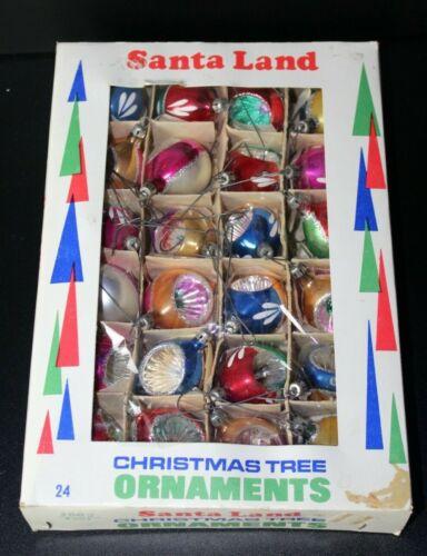 Santa Land Vintage Hand Blown Painted Christmas Ornaments Lot of 24 InBox Poland
