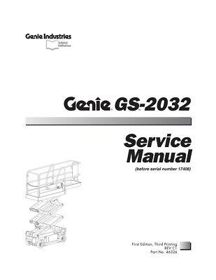 New Terex Genie Gs-2032 Scissor Lift Service Manual