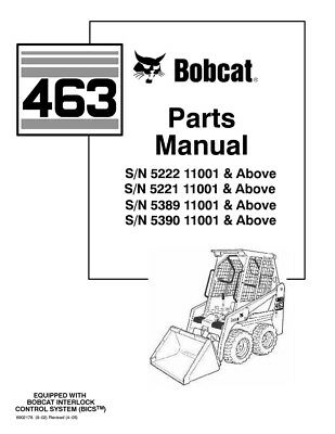 New Bobcat 463 Parts Manual 6902178 Free Shipping