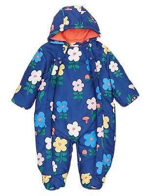 Daisy Blau Blumenaufdruck Schneeanzug mit Stormwear für Neugeboren Baby ()