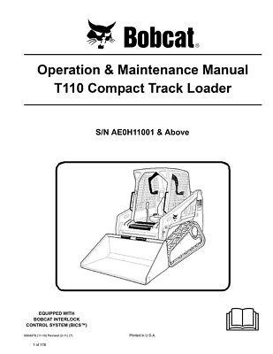 New Bobcat T140 Compact Track Loader Operation Maintenance Manual 6903138