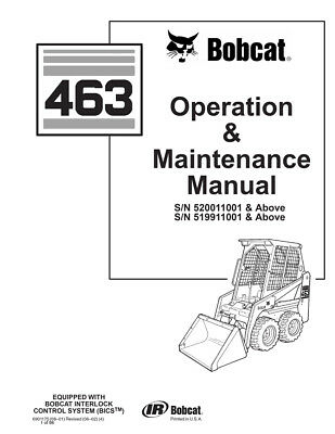 New Bobcat 463 Skid Steer Loader Operation Maintenance Manual 6901175 Free Sh