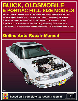 2000 Buick Park Avenue Haynes Online Repair Manual Select Access