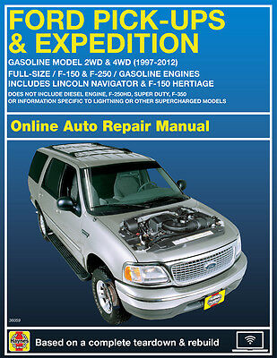 2005 Ford Expedition Haynes Online Repair Manual Select Access