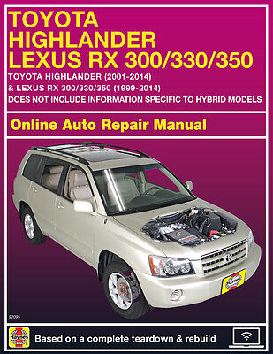 2006 Toyota Highlander Haynes Online Repair Manual Select Access