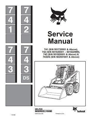 New Bobcat 741 742 743 743ds Skid Steer Repair Service Manual 1988 6566109