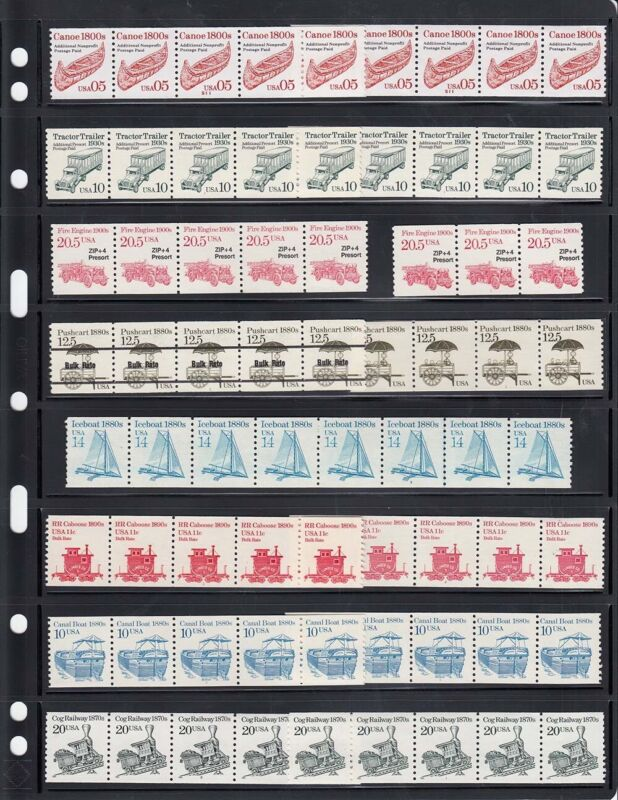 Lighthouse Vario 8S Stock Stamp Pages 8 Rows Professional 25 Black NEW Sheets
