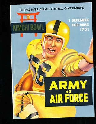 1957 12/1 Army vs Air Force Kimchi Bowl Football program  inter service champion