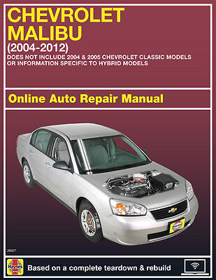 2008 Chevrolet Malibu Haynes Online Repair Manual Select Access