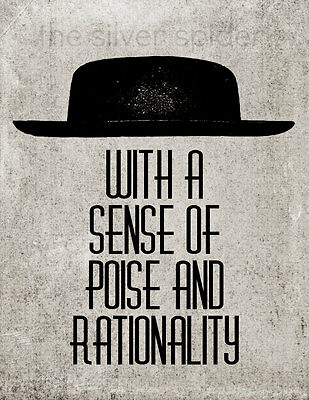 Poise and Rationality 8x10 Art Print Panic at the Disco Sins Not Tragedies