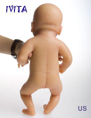 IVITA 14'' Silicone Baby Doll Full Body Realistic Lifelike Baby GIRL Toy 1650g