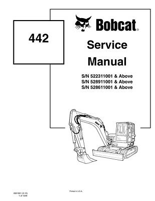 New Bobcat 442 Excavator Updated 2010 Edition Repair Service Manual 6901801