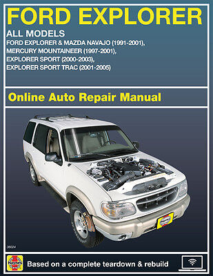 2003 Ford Explorer Sport Trac Haynes Online Repair Manual Select Access