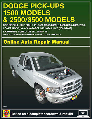 2007 Dodge Ram 1500 Haynes Online Repair Manual Select Access
