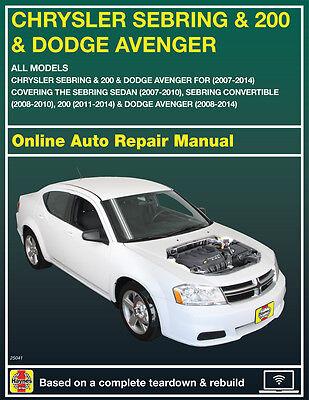 2008 Dodge Avenger Haynes Online Repair Manual Select Access