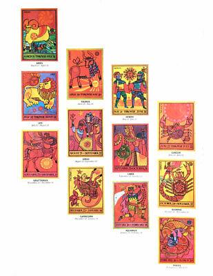 Rare vintage 1969 20x29 Jane Oka Capricorn astrology poster - Portal Productions