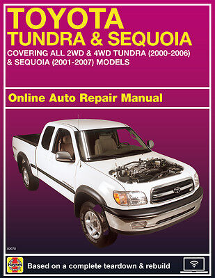2001 Toyota Sequoia Haynes Online Repair Manual Select Access