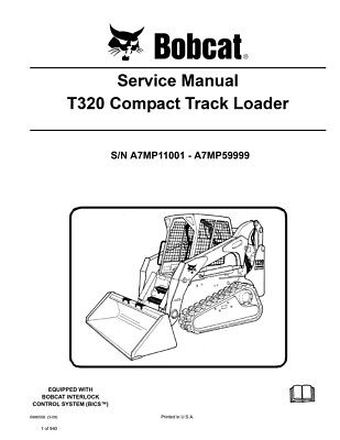 Bobcat T320 Compact Track Loader New Updated 2009 Edition Service Repair Manual