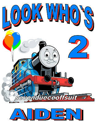 NEW CUSTOM PERSONALIZED THOMAS THE TRAIN BIRTHDAY T SHIRT PARTY FAVOR GIFT (Train Birthday)