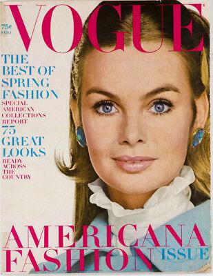 JEAN SHRIMPTON Irving Penn VERUSCHKA Sue Murray ~ Vogue magazine February 1 1968