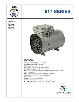 New Thomas Vacuum Veneer 18 Hp Piston Air Compressor Pump 617ca22 Free Sh