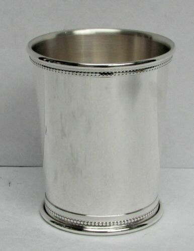 SUPERB HEAVY STERLING SILVER 172 GRAM BEADED MINT JULEP CUP