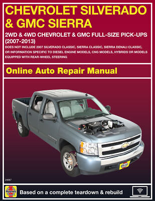 Haynes Online Repair Manual For 2007 2013 Chevy  Gmc Trucks   Suvs