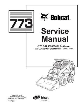 New Bobcat 773 Skid Steer Loader Service Repair Manual 550 Pages 6900092