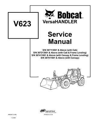 New Bobcat V623 Versahandler Repair Service Manual Updated 2006 Edt. 6902407