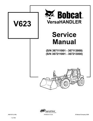 New Bobcat V623 Versahandler Updated 2006 Edition Repair Service Manual 6901675