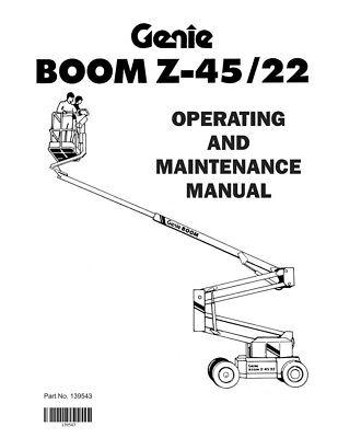 New Terex Genie Boom Z-4522 Operating Maintenance Manual Boom Lift