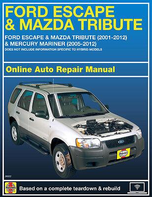 2006 Mercury Mariner Haynes Online Repair Manual Select Access