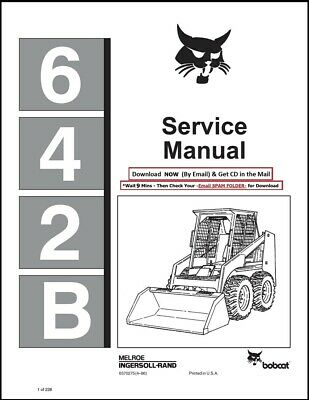 Bobcat 642b Skid Steer Loader 1986 Edition Repair Service Manual 6570275
