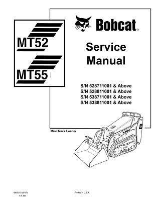 Bobcat Mt52 Mt55 Mini Track Loader 2007 Edition Service Repair Manual 6903372