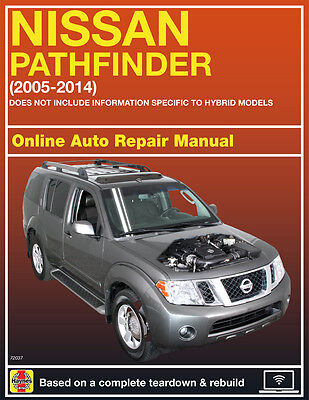 2005 Nissan Pathfinder Haynes Online Repair Manual Select Access