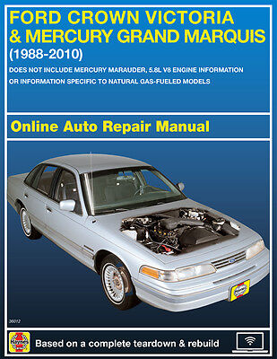 2006 Ford Crown Victoria Haynes Online Repair Manual Select Access